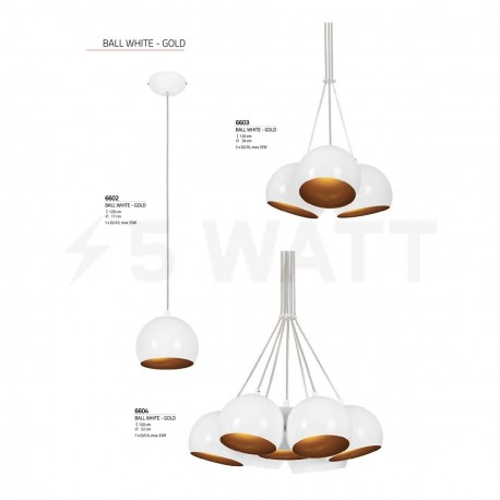 Люстра NOWODVORSKI Ball White-Gold 6603 - недорого