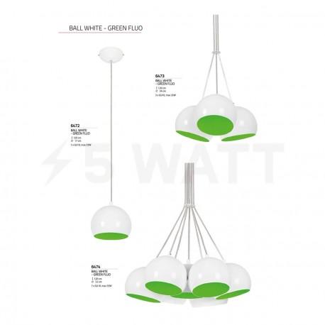 Люстра NOWODVORSKI Ball White-Green Fluo 6472 (6472) - недорого