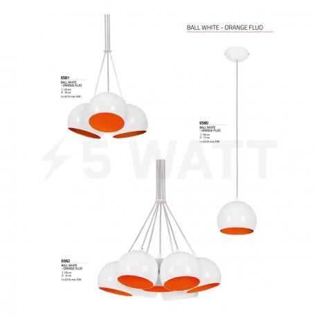 Люстра NOWODVORSKI Ball White-Orange Fluo 6580 - недорого