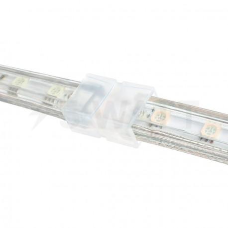 Конектор для світлодіодних стрічок 220В 5050 RGB (2 роз'єми + 4pin (2шт.)) - недорого
