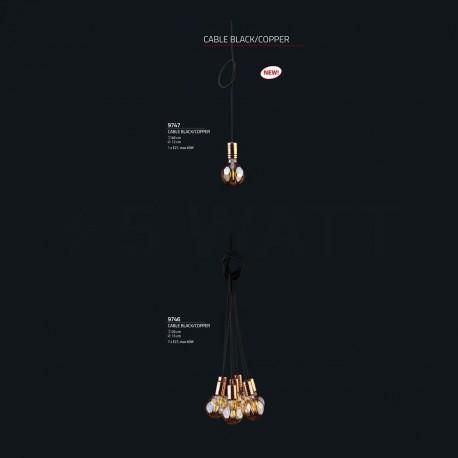 Люстра NOWODVORSKI Cable Black/Copper 9746 - недорого