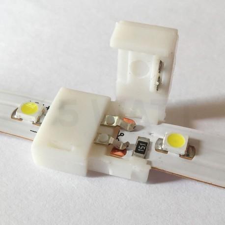 Конектор світлодіодних стрічок OEM №1 8mm joint (зажим-зажим) - в Україні