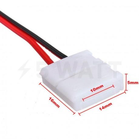 Конектор для світлодіодних стрічок OEM №6 10mm joint wire (провід-зажим) - недорого