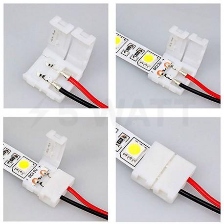 Конектор для світлодіодних стрічок OEM №6 10mm joint wire (провід-зажим) - в Україні