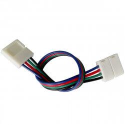 Конектор для світлодіодних стрічок OEM №9 10mm RGB 2joints wire (провід-2зажима)