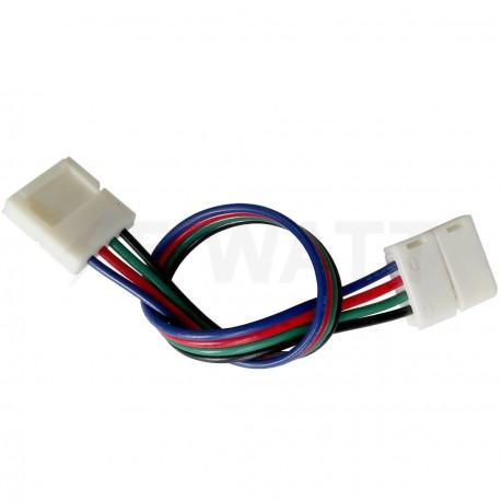 Коннектор для светодиодных лент OEM №9 10mm RGB 2joints wire (провод-2зажима)