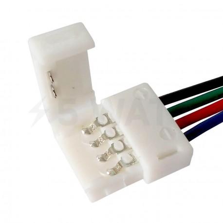 Конектор для світлодіодних стрічок OEM №9 10mm RGB 2joints wire (провід-2зажима) - недорого