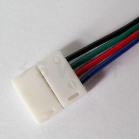 Коннектор для светодиодных лент OEM №9 10mm RGB 2joints wire (провод-2 зажима) - в интернет-магазине