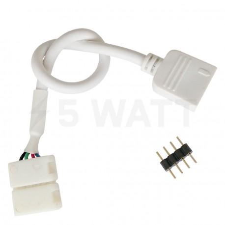 Конектор для світлодіодних стрічок OEM №10 10mm RGB joint joint-F wire (зажим-провід-зажим папа)