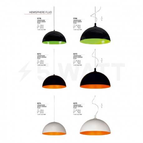 Люстра NOWODVORSKI Hemisphere Black-Orange Fluo 6373 - недорого