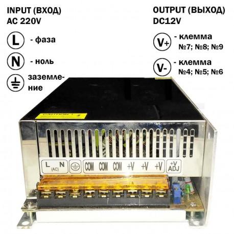 Блок питания OEM DC12 800W 66.7А S-800-12 - недорого