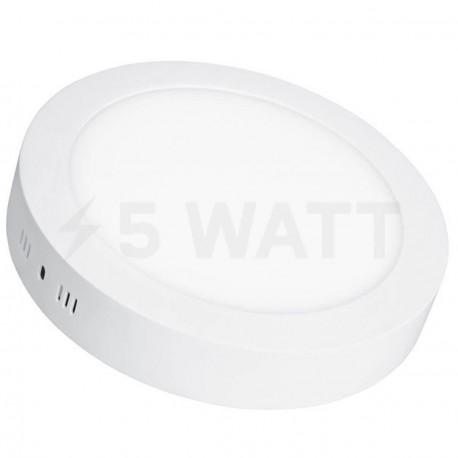 Светильник светодиодный Biom W-R18 W 18Вт накладной круглый белый - в интернет-магазине