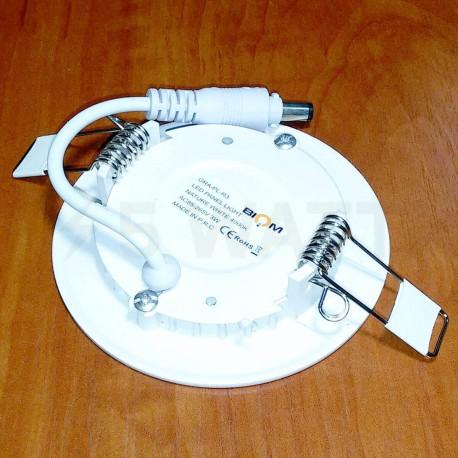 Світильник світлодіодний Biom PL-R3 W 3Вт круглий білий - в Україні
