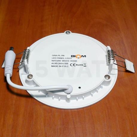 Світильник світлодіодний Biom PL-R6 W 6Вт круглий білий - в Україні