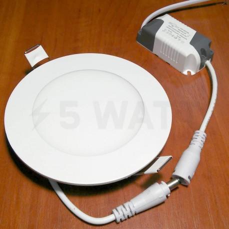 Світильник світлодіодний Biom PL-R6 WW 6Вт круглий теплий білий - недорого