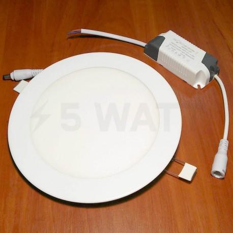 Светильник светодиодный Biom PL-R12 W 12Вт круглый белый - недорого