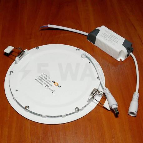 Светильник светодиодный Biom PL-R12 W 12Вт круглый белый - в Украине