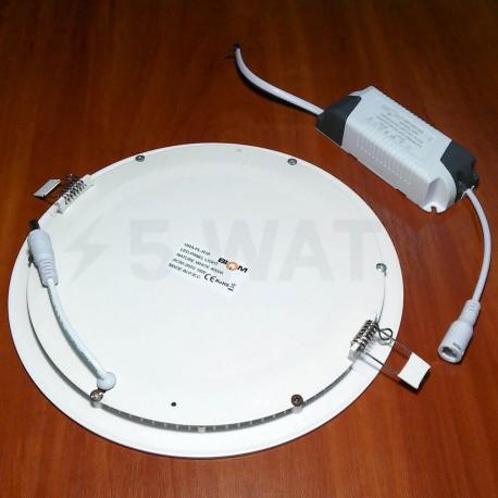 Светильник светодиодный Biom PL-R18 W 18Вт круглый белый - в Украине