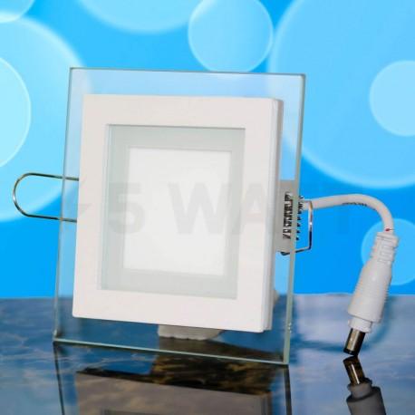 Світильник світлодіодний Biom GL-S6 W 6Вт квадратний білий - в інтернет-магазині