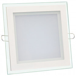 Светильник светодиодный Biom GL-S12 W 12Вт квадратный белый