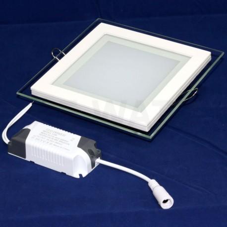 Светильник светодиодный Biom GL-S12 W 12Вт квадратный белый - недорого