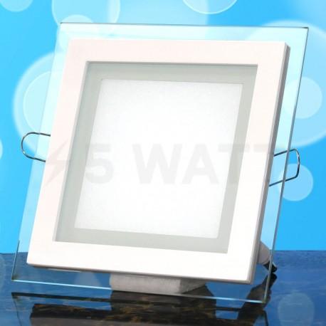 Светильник светодиодный Biom GL-S12 W 12Вт квадратный белый - в интернет-магазине