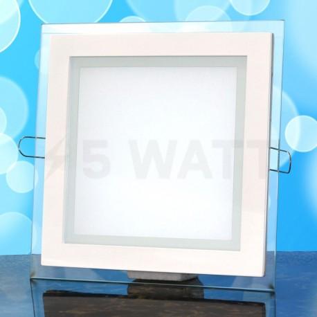 Світильник світлодіодний Biom GL-S18 W 18Вт квадратний білий - в інтернет-магазині