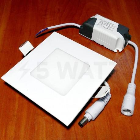 Светильник светодиодный Biom PL-S3 W 3Вт квадратный белый - недорого
