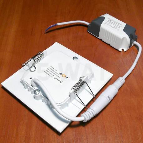 Светильник светодиодный Biom PL-S3 W 3Вт квадратный белый - в Украине