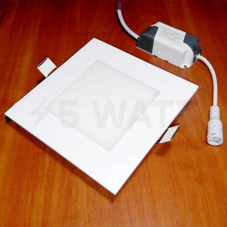 Світильник світлодіодний Biom PL-S6 W 6Вт квадратний білий - недорого