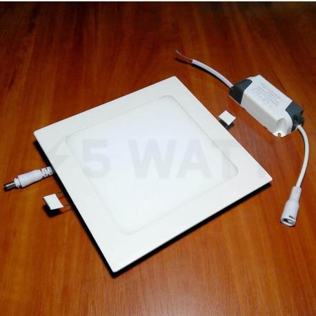 Светильник светодиодный Biom PL-S12 W 12Вт квадратный белый - недорого