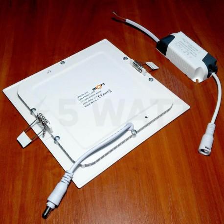 Светильник светодиодный Biom PL-S12 W 12Вт квадратный белый - в Украине