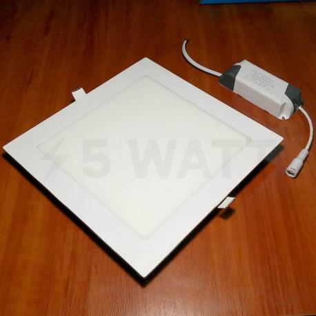 Светильник светодиодный Biom PL-S18 W 18Вт квадратный белый - недорого