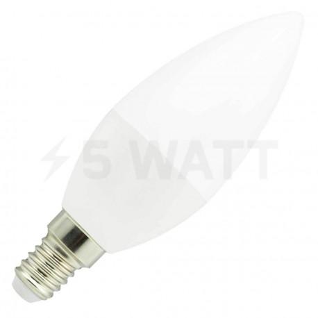 Світлодіодна лампа Biom BB-408 C37 7W E14 4200К матова