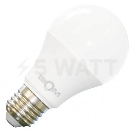 Світлодіодна лампа Biom BB-419 A60 9W E27 3000К матова - придбати