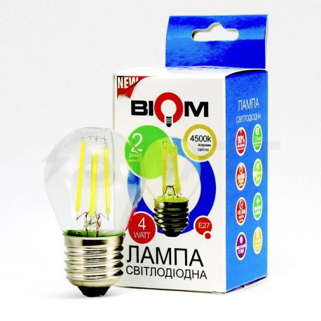 Светодиодная лампа Biom FL-302 G45 4W E27 4500K - в Украине