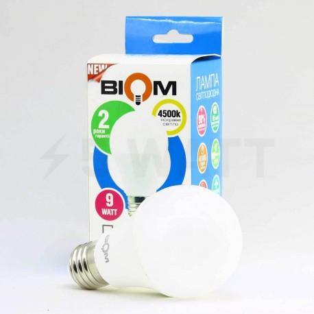 Светодиодная лампа Biom BB-419 A60 9W E27 3000К матовая - магазин светодиодной LED продукции