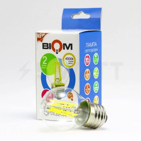 Светодиодная лампа Biom FL-302 G45 4W E27 4500K - в интернет-магазине