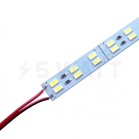 Світлодіодна лінійка JL 5730-144 led W 2-pin 6500K, 12В, IP20 білий - придбати