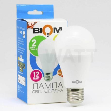 Світлодіодна лампа Biom BB-422 A60 12W E27 4200К матова - в Україні