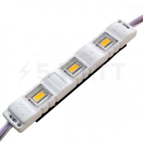 Світлодіодний модуль BRT M2 5630-3 led WW 1,5W 3000K, 12В, IP65 теплий білий закритий з лінзою - придбати