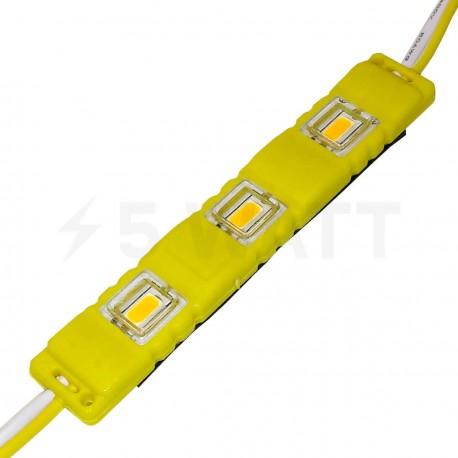Світлодіодний модуль BRT M2 5630-3 led Y 1,5W, 12В, IP65 жовтий закритий з лінзою - придбати