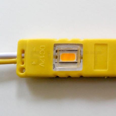 Світлодіодний модуль BRT M2 5630-3 led Y 1,5W, 12В, IP65 жовтий закритий з лінзою - недорого