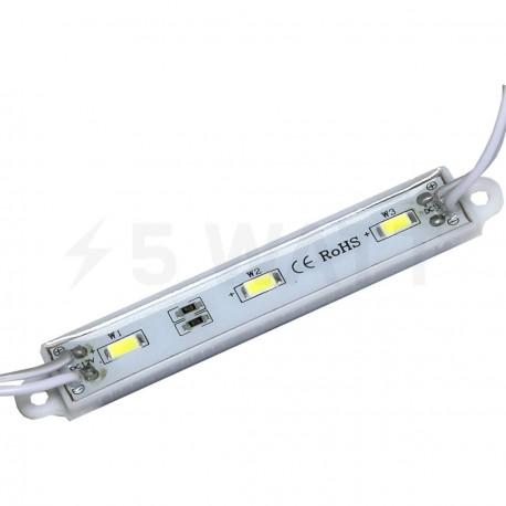 Світлодіодний модуль BRT 5630-3 led WW 1,5W 3000K, 12В, IP65 теплий білий - придбати