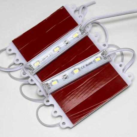 Світлодіодний модуль BRT 5630-3 led WW 1,5W 3000K, 12В, IP65 теплий білий - в Україні