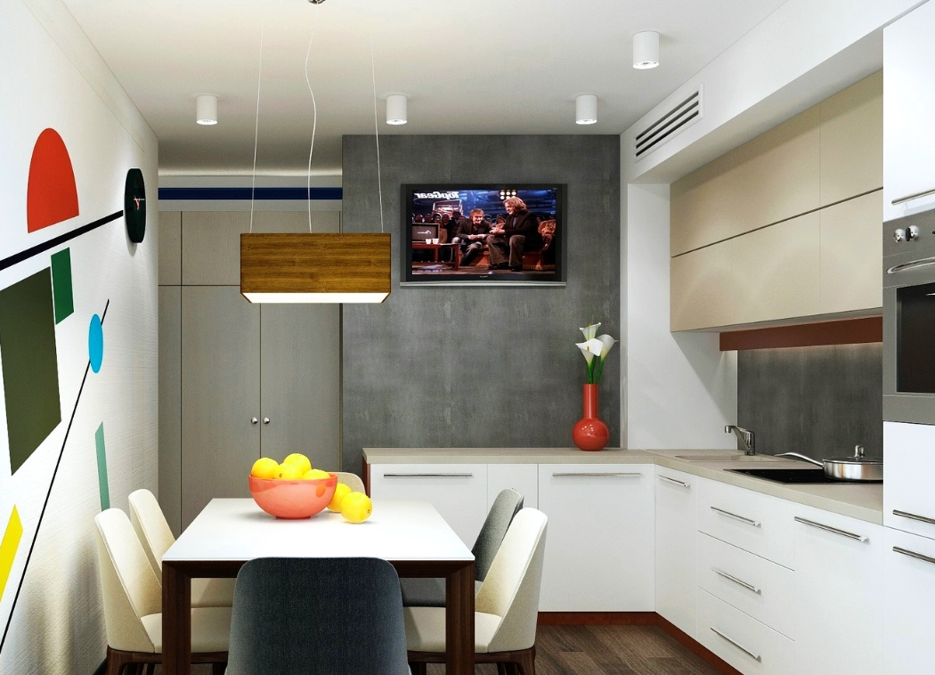 Зональное освещение кухни