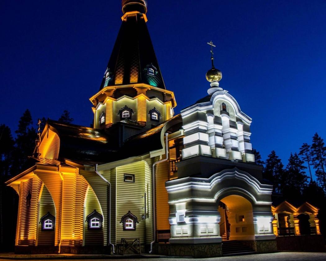 Подсветка храма светодиодной лентой